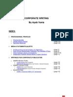 Ayob Vania - Corporate Writing