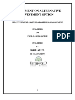 Assingment on Alternative Investment Option
