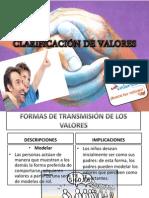 CLARIFICACIÓN DE VALORES
