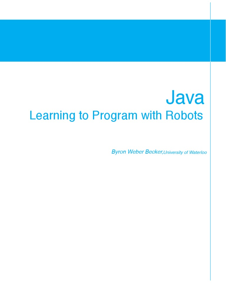 Learning to program java with robots | Class (Computer