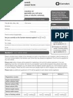 2013 Camdem Council Parking Permit Renewal Form