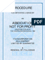 Guide to Association not for Profit under Companies Ordinance 1984 (SECP)
