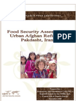 WFP Food Security Assessment of Urban Afghan Refugees in Pakdasht Iran