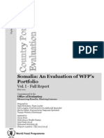 2012 Evaluation of WFP Somalia Portfolio