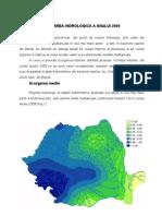 Caracterizarea Hidrologica a Anului 2009