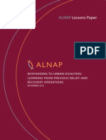 ALNAP 2012 Lessons Paper - Responding to Urban Disasters