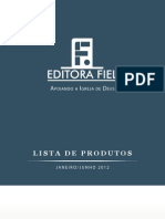 Catálogo Editora Fiel Jan - Jun 2012