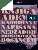 Knjiga Adema Kahrimana - Nedžad Ibrišimović