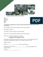 Greens Shares Order Form