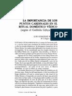 Gonzalez-Reimann - La Importancia de Los Puntos Cardinales en el Ritual Domestico Vedico
