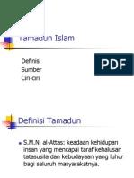6.Definisi Ciri-Ciri Tamadun Islam