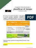 Investigació Planificar TEMPS CRONOGRAMA CRONOGRAMES planificació