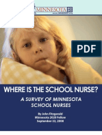 Where is the School Nurse? - A Survey of Minnesota School Nurses
