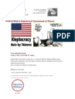 13-04-04 What is Kleptocracy? Government of Thieves!