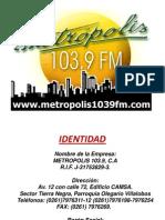 Metropolis Informacion (Identidad, Historia,Organigrama)(1)