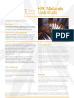 HPC Midlands and RWE npower Case Study - Coatings for Industrial Gas Turbine Blades