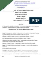 Reglamento de Las Normas Venezolanas Covenin