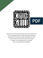 Coyote Grill Menu Feb 09