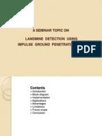 Landmine Detection Using Impulse Ground Penetrating Radar