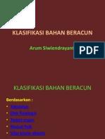 klasifikasi bahan beracun