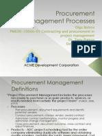 Procurement Management Processes Phase 1 Ip1