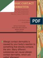 ALLERGIC CONTACT DERMATITIS.ppt