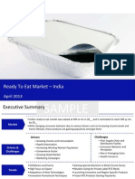 Market Research Report :Ready to Eat Market in India 2013
