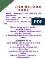 ABOGADO - Oracion Del