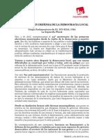 Declaración Reforma de Régimen Local