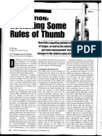 Distillation-Rules of Thumb