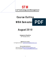 MBA 2 Course Outline - STM Aug 2010
