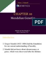 Ch10 Mendelian Genetics