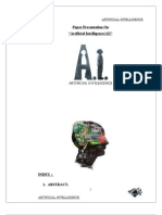 Artificial Intelligence AI Report Mun