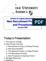 Presentation New Recruitment Process 01 09 Updated