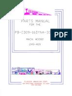 Plasser 09-16 DYNA CAT Parts Manual -3382