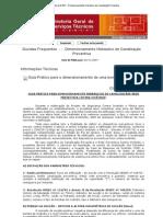 Site da DGST - Dimensionamento Hidráulico de Canalização Preventiva