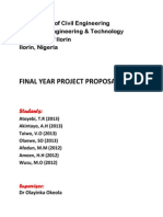 Final Year Project Proposals