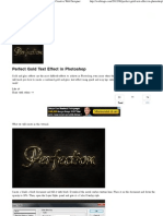 Perfect Gold Text Effect in Photoshop _ Webtiago - Creative Web Designer
