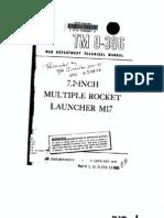 TM 9-396a 7-2 Inch Multiple Rocket Launcher M17