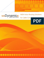 TeleDynamicX NGN Voice Routing Solutions for Cable Companies
