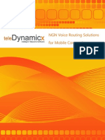 TeleDynamicX NGN Voice Routing Solutions for Mobile Companies