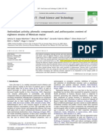 Antioxidant Activity, Phenolic Compounds and Anthocyanins Content Of