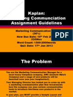 GDip Marketing Communication Assignment Guidelines