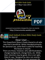 2013 2nd Quarter Lesson 1 Powerpoint Show