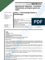 ABNT.NBR.NM.0213(2000) - Segurança de Máquinas.Conceitos Fundamentais.Terminologia e Princípios Gerais de Projeto