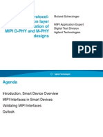 Electrical Protocol and Application Layer Validation MIPI D PHY and M PHY Design