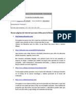 PRÁCTICAS DEL MÓDULO II DE EDUCACIÓN Y SOCIEDAD (páginas de internet)