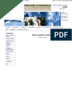 West Bengal University of Technology - Academic Calendar