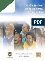 2005 Estudio Nacional Salud Mental 2003