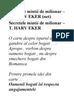 Secretele mintii de milionar – T. HARV EKER (net)